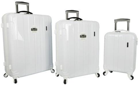 Pure White Hard Shell Trolley Bag -25