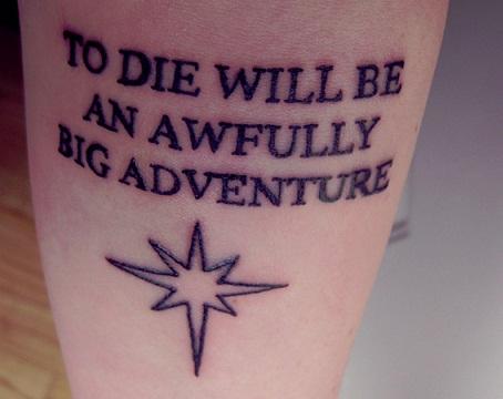 Tattoo Quotation on Death