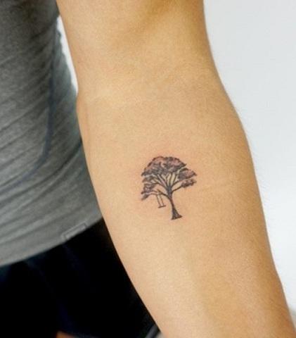 Tiny Tree Tattoo