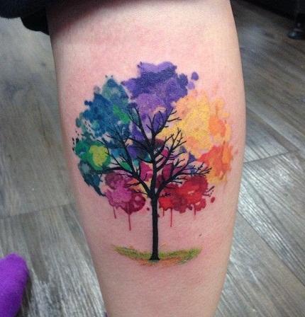 Water colour Tree Tattoo