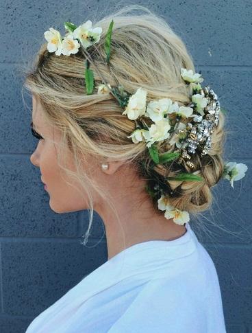 Blonde-Hairstyles-Floral-Blonde-Updo