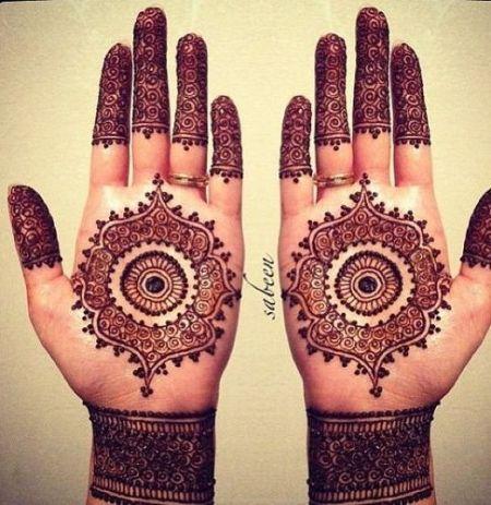 Trendy Circular Henna Art