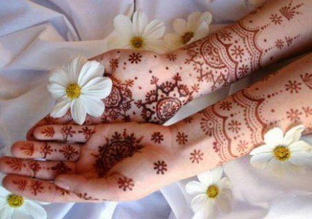 Occasional Floral Mehndi Pattern