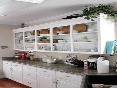 Open Shelf Kitchen Cupboard Design