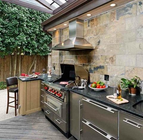 Courtyard Kitchen Cupboard Designs