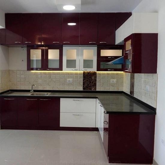 L Shaped Kitchen Cupboard Designs