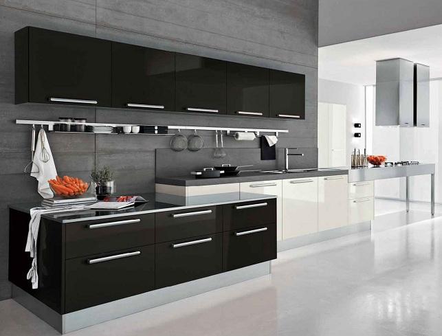 White And Black Kitchen Cupboards Designs