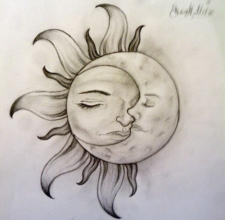 Moon Tattoo Art