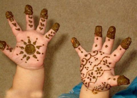 kids mehndi design