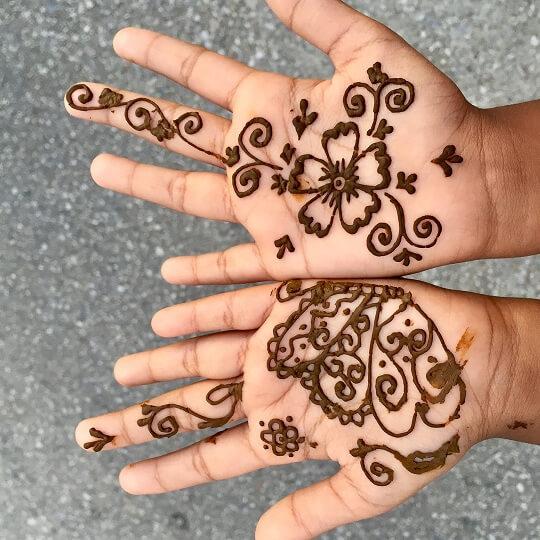 Cute Mehndi Design for Kids