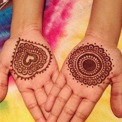 Heart Mehndi Design For Kids