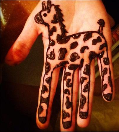 Giraffe Mehndi Design for Children