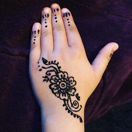 Arabic Mehndi Design for Kids