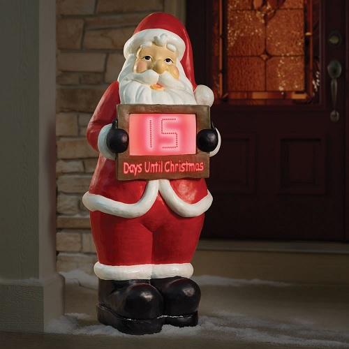 Outdoor Christmas Countdown Clocks