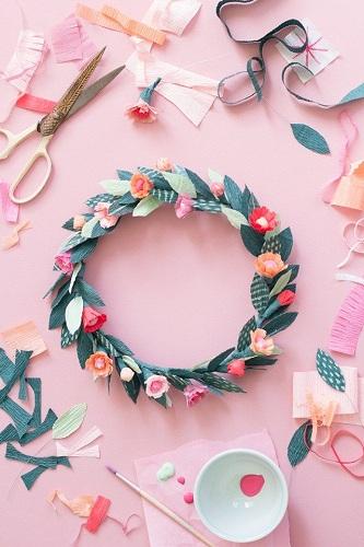 Paper Spiral Crown Craft