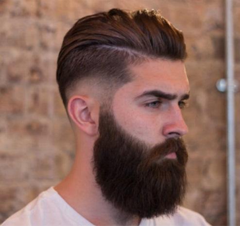 Pompadour And Beard