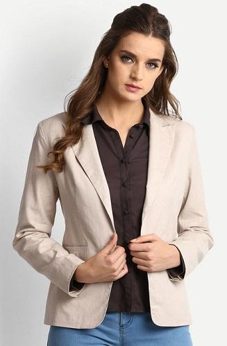 Fawn or beige blazer