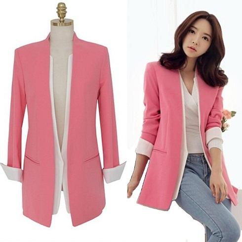 Salmon pink blazer