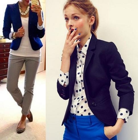 Navy blue trendy blazer