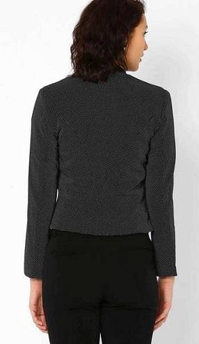 Polka-dotted blazer