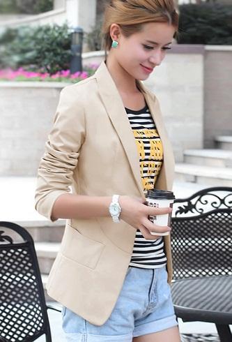 Khaki women's blazer