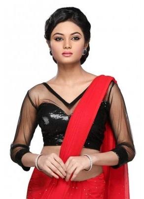 Glittering V-Neck Readymade blouse