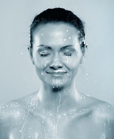 Milk bath woman