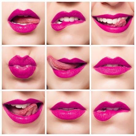 Pink lips gloss