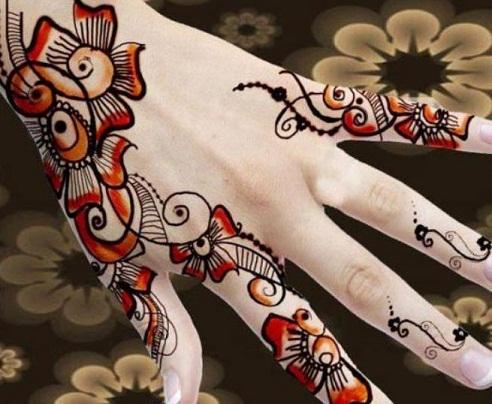 Abstract Design in Pakistani Mehndi's