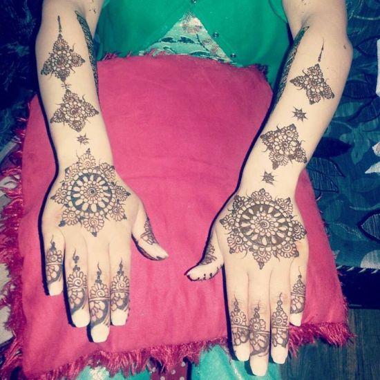 Circular Pakistani Henna Design