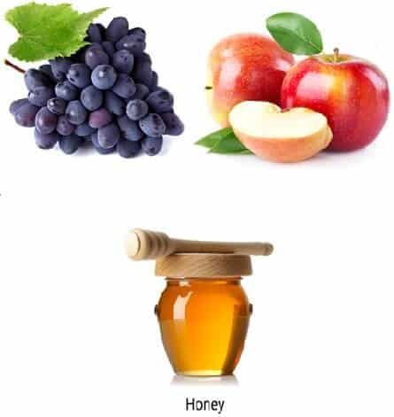 Grape Pulp Apple Pulp And Honey