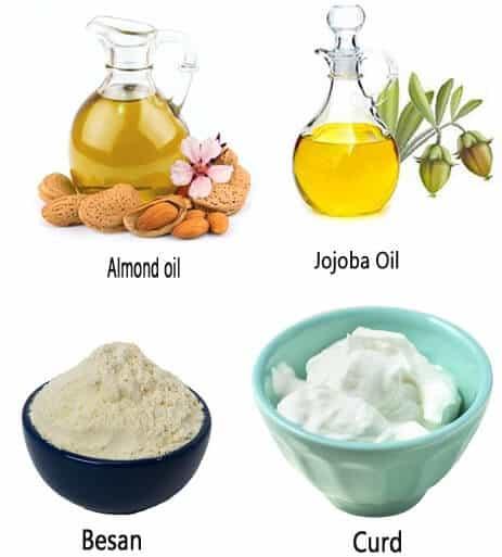 Besan Almond Oil Jojoba Oil And Curd