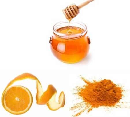 Orange Peel Paste Pulp And Honey