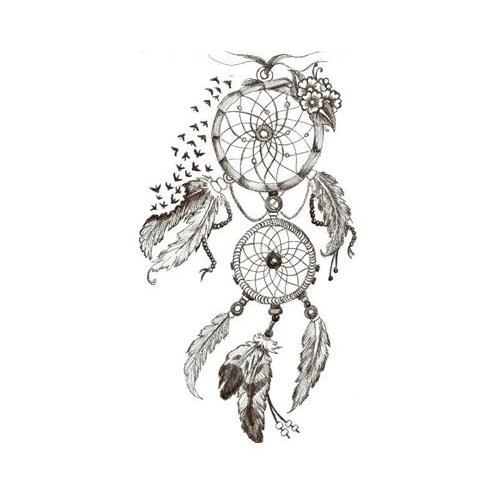 simple dreamcatcher tattoos