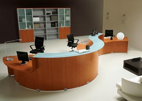 Modern Reception Office Table Design