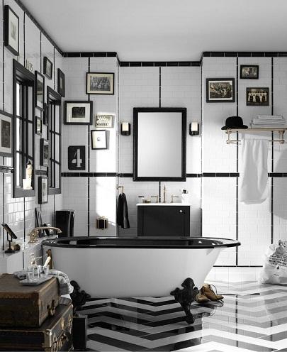 Black Inspired Retro Bathroom