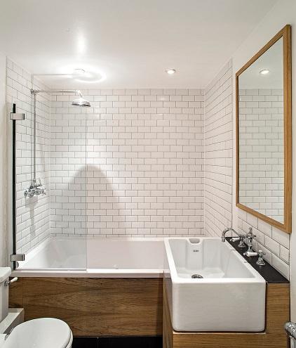 Bathroom with Belfast sinks