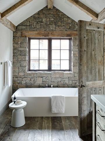 Rustic Industrial Inspired Bathroom