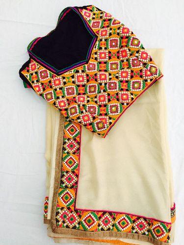 Bridal Blouse Designs-Gujrati Style Blouse 15