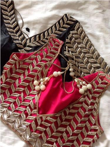 Bridal Blouse Designs-Leaf Style Blouse 8