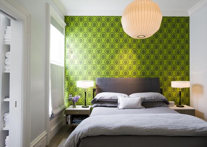 Wallpaper Designed Bedroom Interior