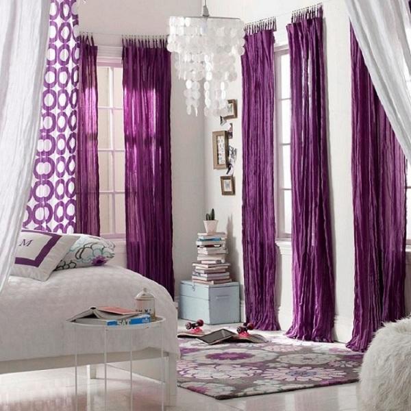 Colourful Curtain Bedroom Interior Design