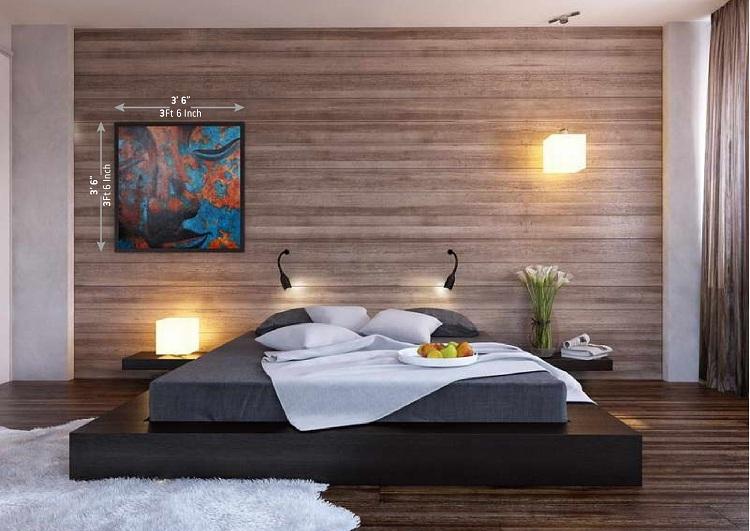 Wood Accent Wall Bedroom Interior Design