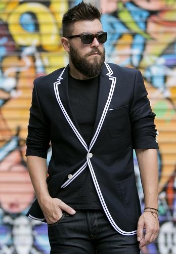Bordered blazer
