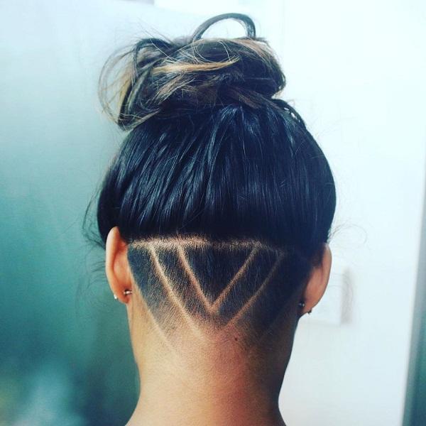 Modern Hair Updo With Undercut Design