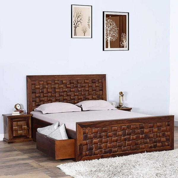 Teak Wood Bed Design