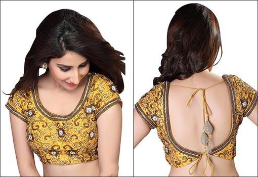 Yellow Designer Blouse Design