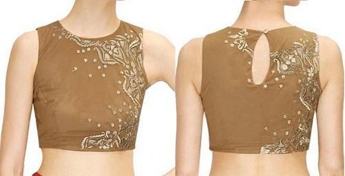 Golden Alluring Pattern Designer Blouse