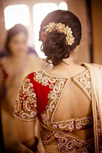 Wedding Ceremony Blouse Neck Design