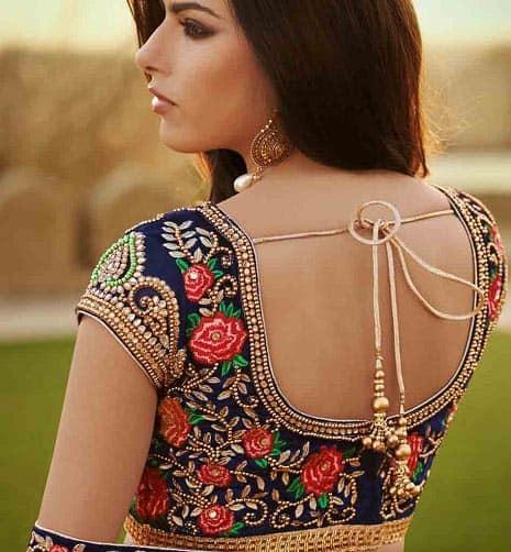 Designer Floral Blouse Design